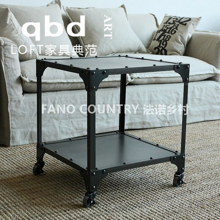Custom made to order american retro loft iron wood coffee table minimalist living room sofa table tea table coffee table dining table to do the old