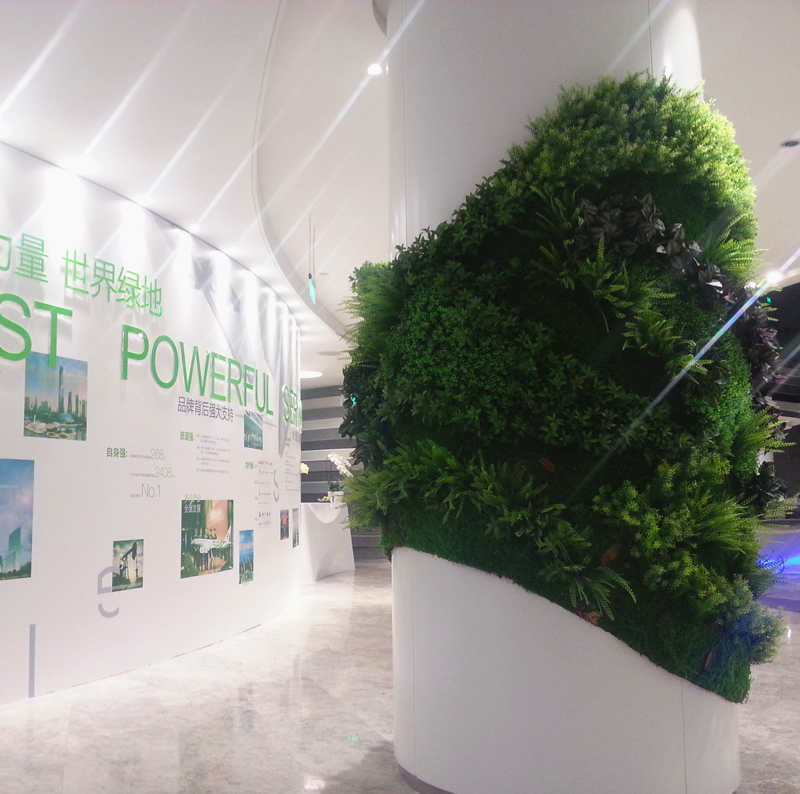 Customized vertical green wall plants simulation simulation grass wall wall vertical greening greening works shanghai