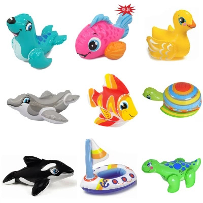 Cute animal intex 58590 fun water toys inflatable toys for children playing in the water swimming bath toys