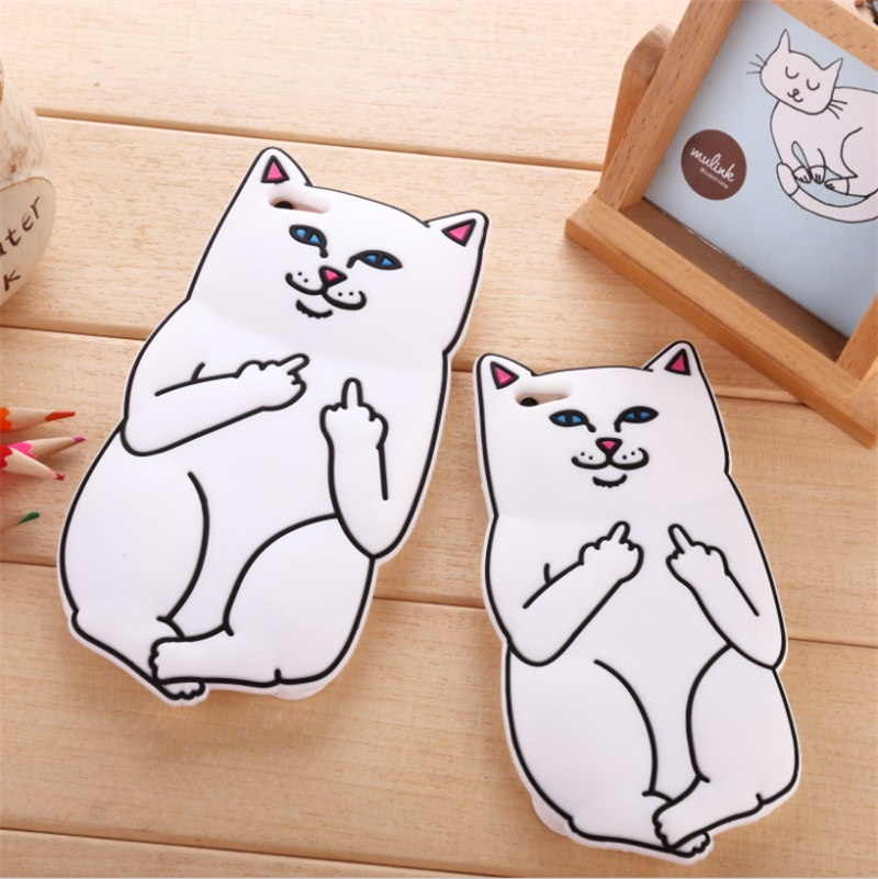 Cute cartoon finger pocket cheap cat iphone6s soft shell silicone sets of mobile phone shell apple 6pl us whole package s