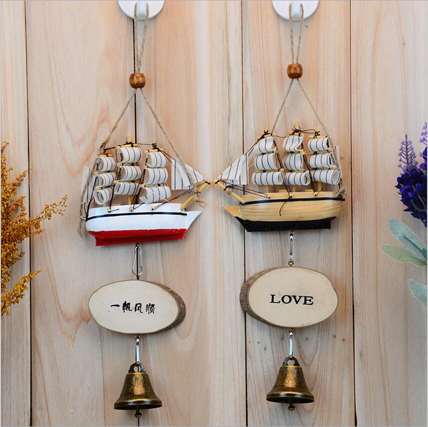 D cute romantic creative novelty especially useful in the mediterranean sailing wind chimes to send men and women students girlfriends birthday gift
