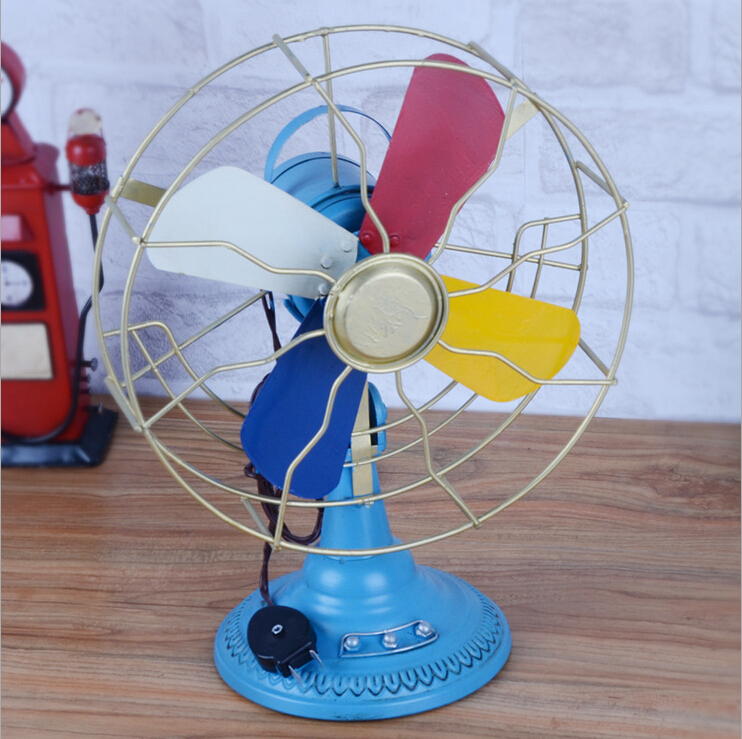 D fanner model iron diy fan antique vintage retro creative home decorations ornaments photography props