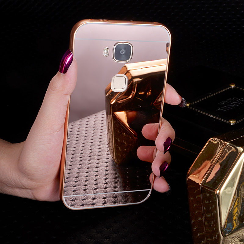 D199 g7plus tat 4 huawei phone shell mobile phone shell protective sleeve metal frame back cover RIO-AL 00 mirror popular brands