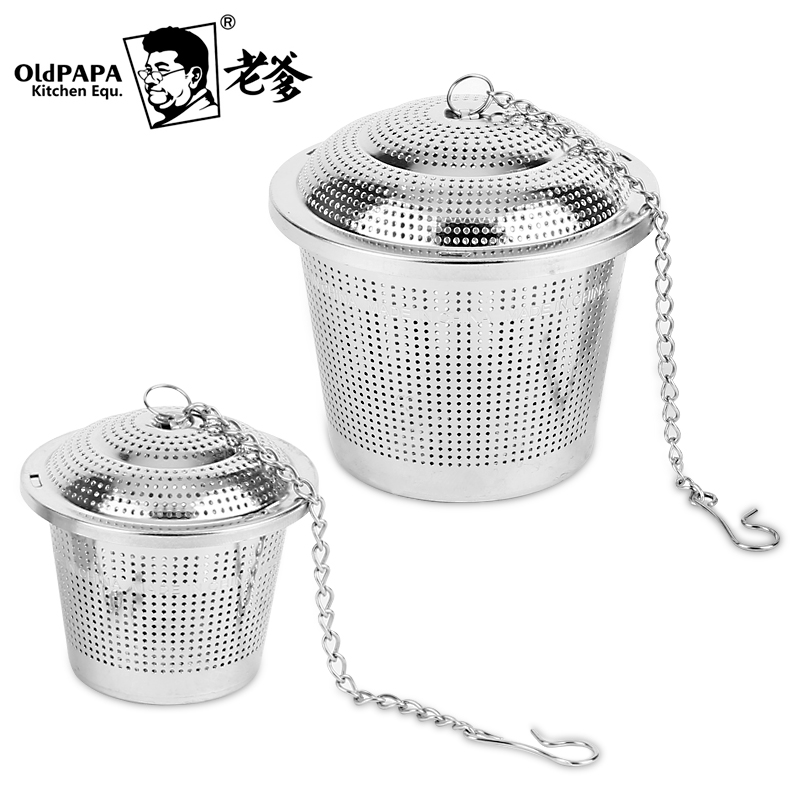 Daddy 304 stainless steel ball seasoning packet seasoning packet halogen material package kitchen pot seasoning ball ball tea leaf pack spices Package