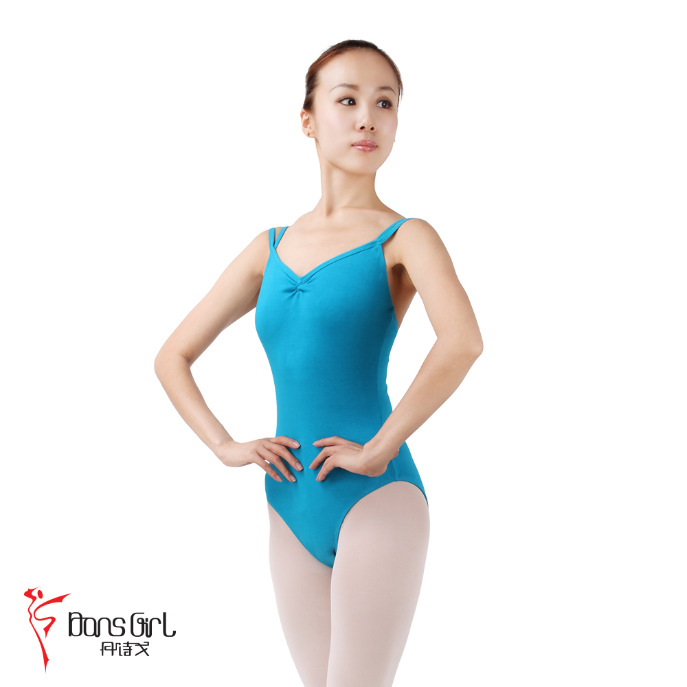 Dan poetry ge dance costume leotard ballet clothes and aerobics clothing 2170 double straps in the back body suit