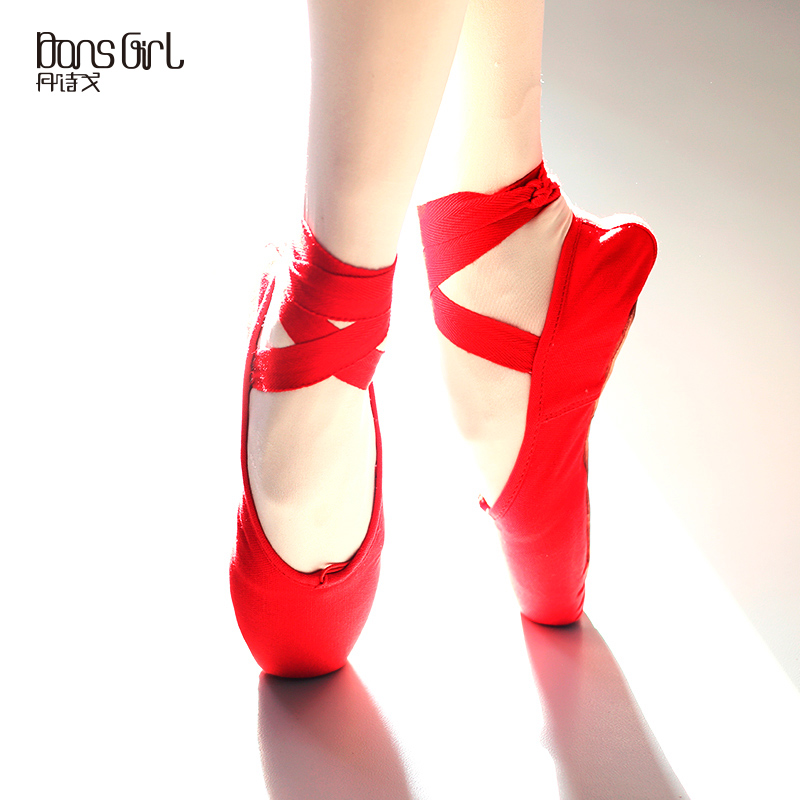 Get Quotations · Dan poetry ge dance shoes adult ballet shoes body practice shoes pointe shoes satin table exercises