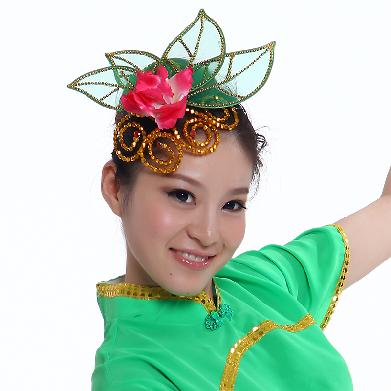 Dance performances headdress headdress dance costumes sequined flower head flower head flower headdress new specials
