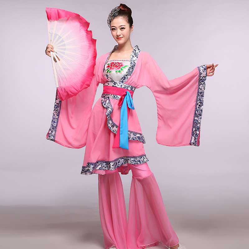[Dance skipperling] fell in love with dance 2016 new fan dance performances of classical dance costumes suit skirt dance clothes