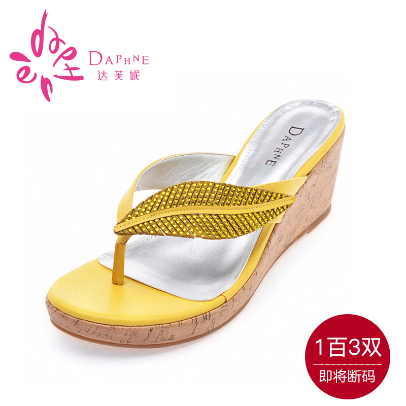 Daphne/daphne genuine special new summer sandals slope with waterproof sandals rhinestone sandals and slippers specials