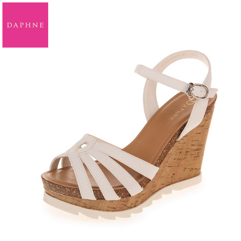 44519cd73 Get Quotations · Daphne daphne sandals wedges heels simple summer new  genuine female cool 1014303019