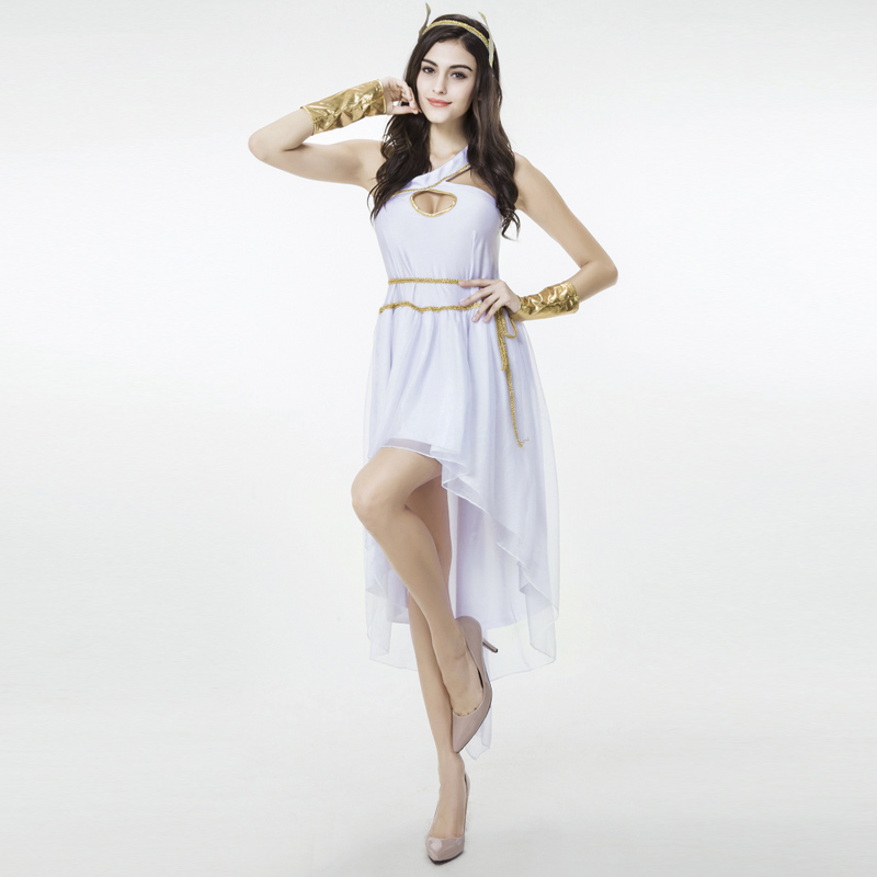 Get Quotations · Darlinggreek goddess white greek goddess dress adult  halloween costume cosplay clothes