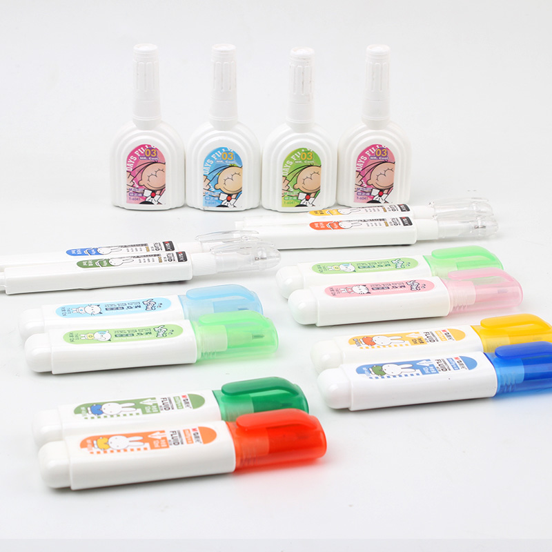 Dawn dawn stationery correction supplies-correction fluid 12 ml correction fluid correction fluid student stationery kawaii multicolor