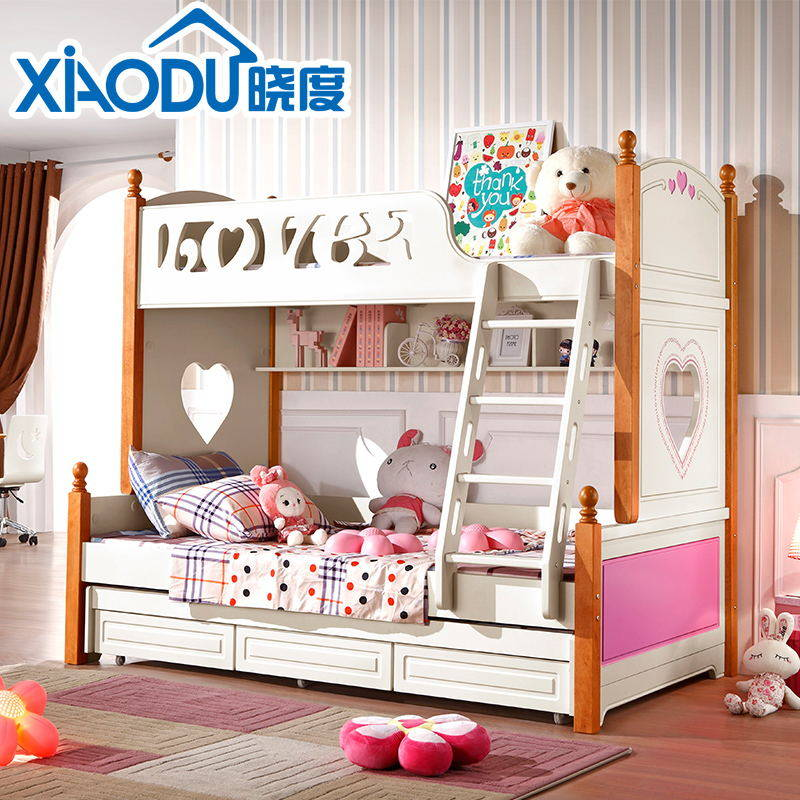 Dawn of the korean children's furniture bunk bed bunk bed children's bed wood bunk bed bunk bed bunk bed combination bed
