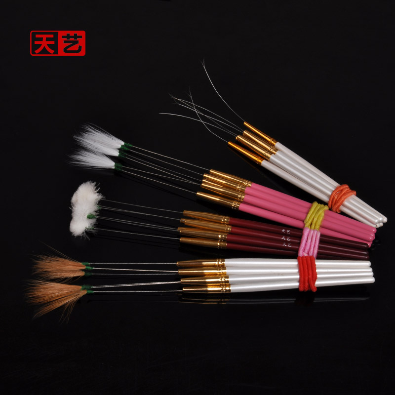 Days arts feather stick needles wooden handle goose feather hair stick crane stick ear professional tool ear tool dig ershao ear