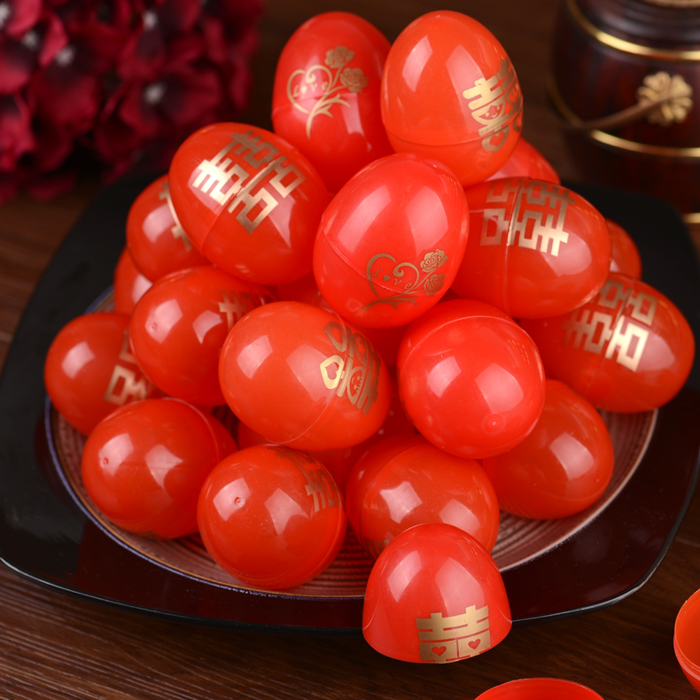 Days of margin wedding supplies wedding red double happiness candy box hi egg shell eggshell baby birthday moon red eggshell