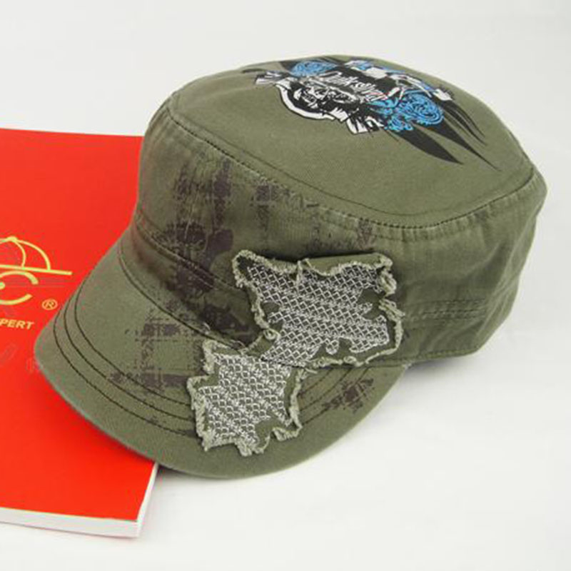 Dc male ms. cotton korean version of the simple wind θ0 army cap gold thread embroidery hot warm hat