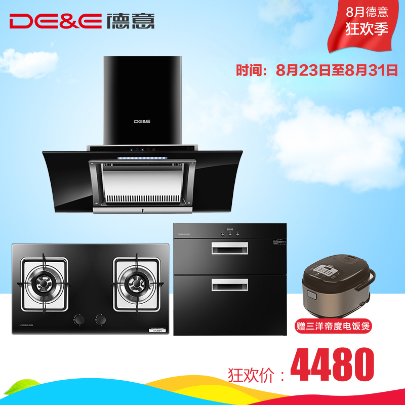 De & e/german and italian 870 t + 709b + 100-D hoods gas stove smoke stoves eliminate three sets Disinfection cabinet