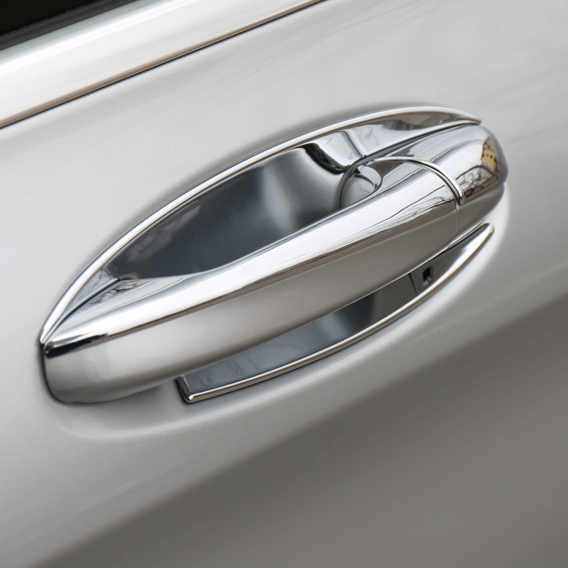 Dedicated to the new mercedes glc glc plating outside door handle bowl bright pieces of accessories decorative modified special
