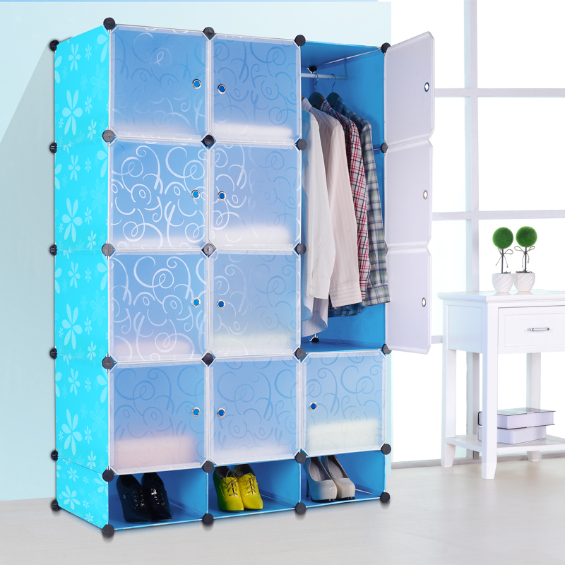 Deepen paragraph wardrobe with shoe variety children's wardrobe simple wardrobe combination magic piece of plastic baby wardrobe