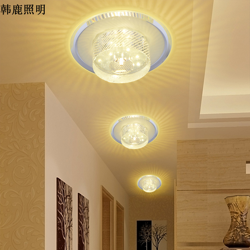 Deer han led crystal lamps aisle entrance hall corridor lights balcony lights ceiling entrance ceiling with lighting