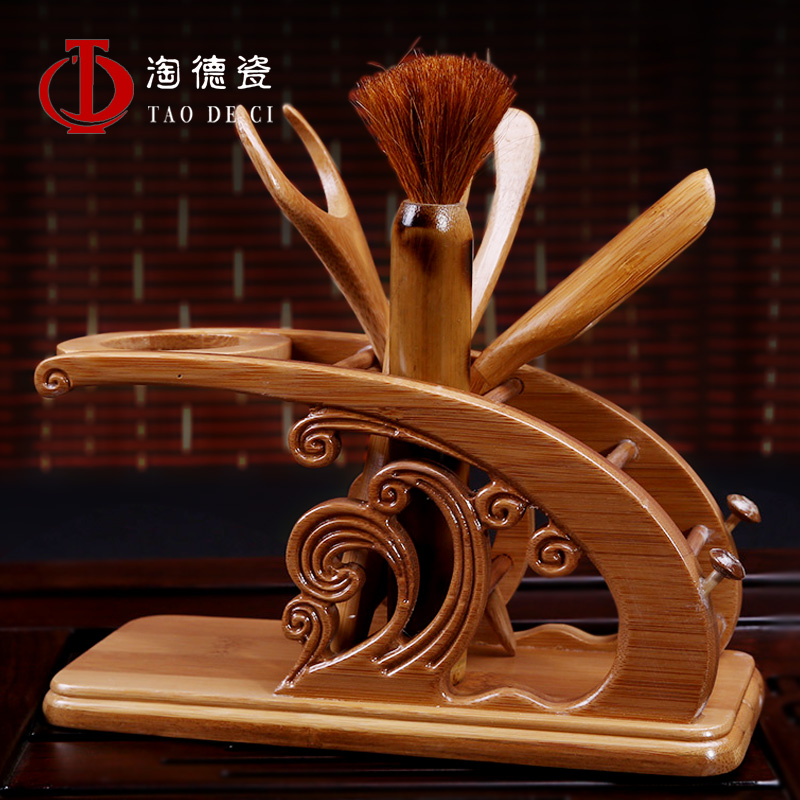 Dehua porcelain kung fu tea accessories ebony liujunzi bamboo kung fu tea tea accessories tea with tea clip needle tea