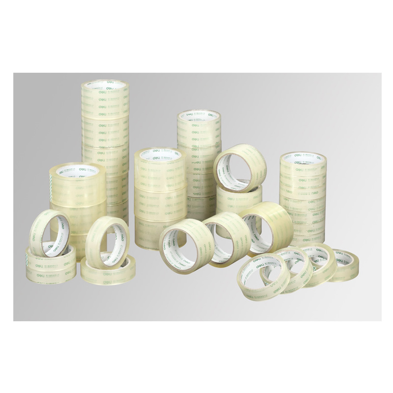 Deli 30323 transparent paper tape sealing tape 6CM wide tape sealing tape packing tape packing tape sticky good