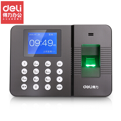 Deli 3960 attendance fingerprint attendance punch card machine fingerprint punch card machine fingerprint attendance machine type free software installation