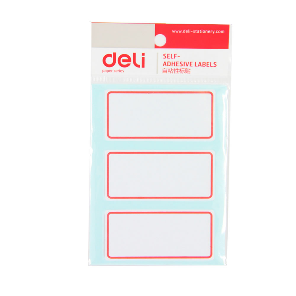 Deli 7186 self adhesive label handwritten label sticker label classification label 34x73mm 12 sheets/pack