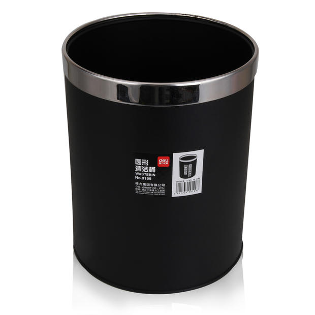 Deli 9199 clean bucket thick stainless steel fashion home hotel kitchen wastebasket delić delić room trash bin