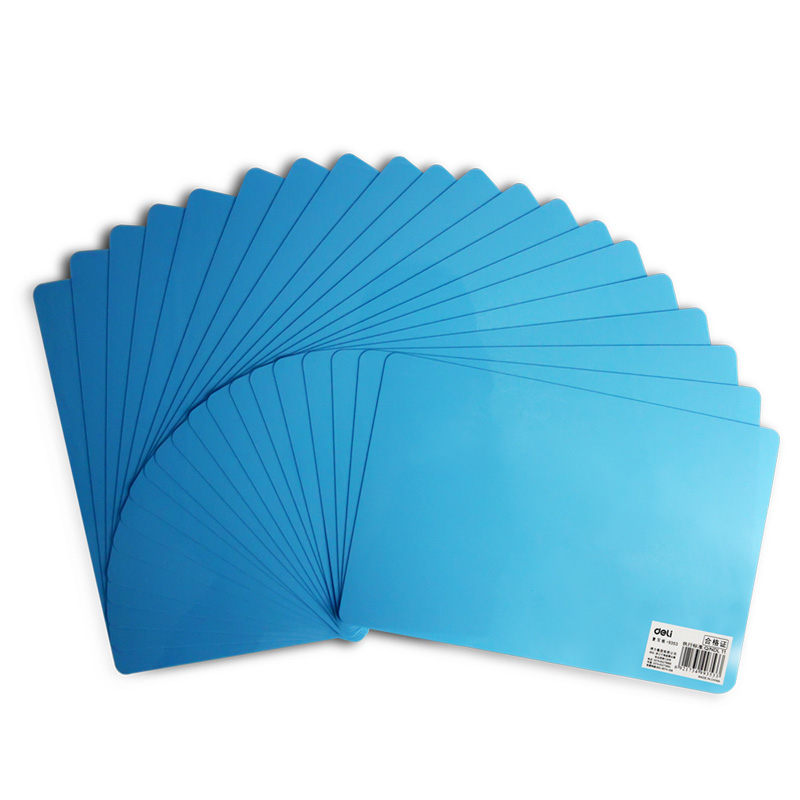 Deli 9353 a4 writing pad desktop pp plastic backing plate replication board exam students writing pad writing board