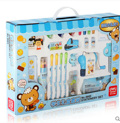 Deli 9665/9610 primary school children stationery set gift set school spree