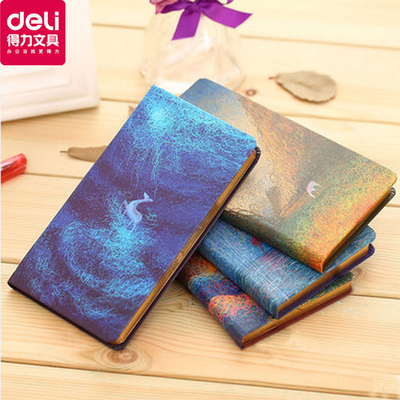 Deli deli Y4812801 hunt deer series diary book creative notebook 128 k trumpet a496页hardface notebook