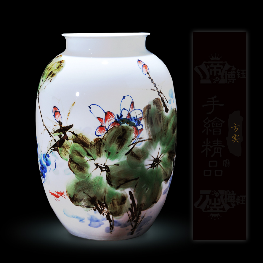 Delineators square real end custom jingdezhen hand painted blue and white ceramic vase ornaments crafts home accessories furnishings