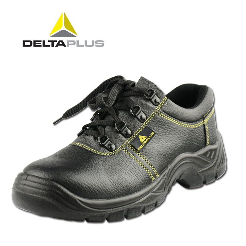 Delta safety shoes baotou steel smashing anti puncture antistatic safety shoes work shoes breathable leather wear and slip