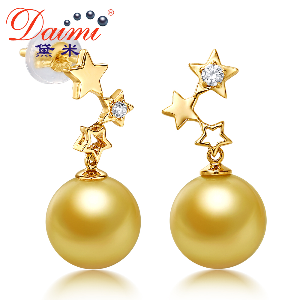 Demi perfect circle jewelry flashing 9- 10mm perfect circle nanyang kim glossy tianqiang however earrings k gold earrings genuine female models