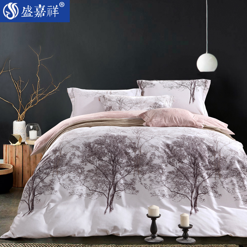 Denim fall and winter sanding thick warm cotton quilt bedding linen quilt 4 cotton textile four sets of 1.8