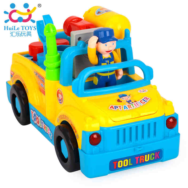 Department of music 789 electric toy car boy assembled removable truck tool cart children's toys removable screw
