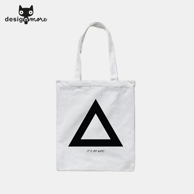 Design cat head mean white series of female leisure wild canvas shoulder bag shopping bag shopping