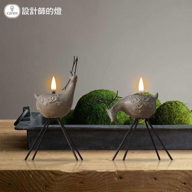 Designer lamps american country decorations ornaments retro home furnishing accessories creative nordic water deer candlestick