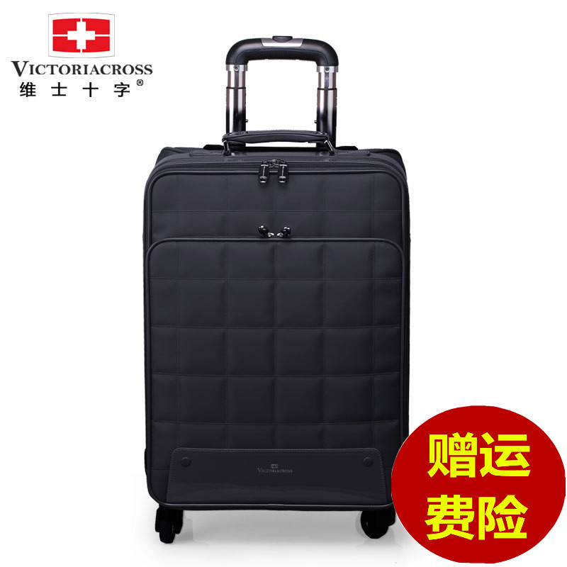 Devos cross caster boarding luggage trolley case 20 inch 24 inch suitcase oxford student luggage