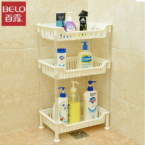 Dew heightening multilayer bathroom shelving racks bathroom floor bathroom shelving racks plastic racks