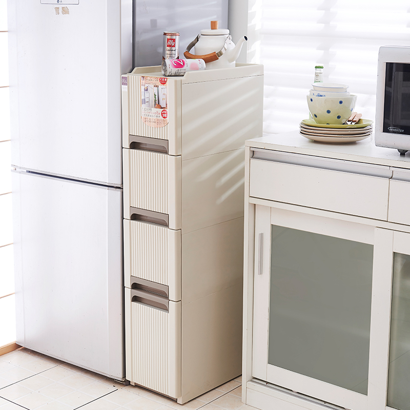 Dew home caught finishing cabinet drawer plastic storage cabinets mobile storage group in the gap narrow cabinet storage cabinets