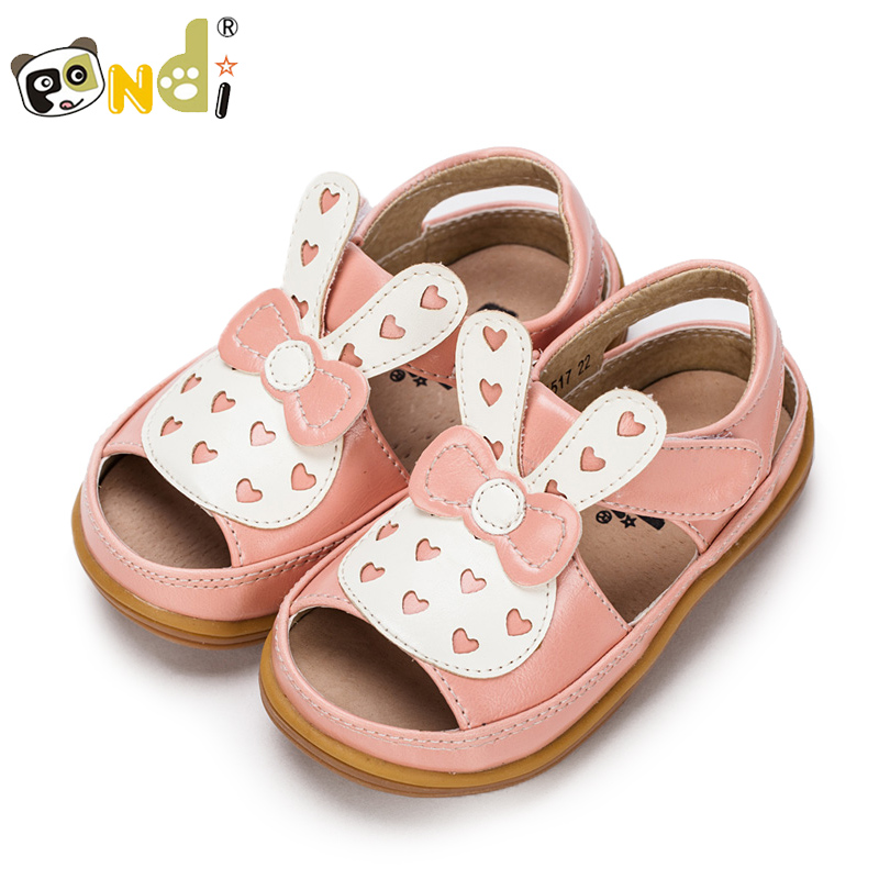 Di fat panda girls sandals 2016 spring new princess shoes cool shoes for children 3 years old female baby shoes