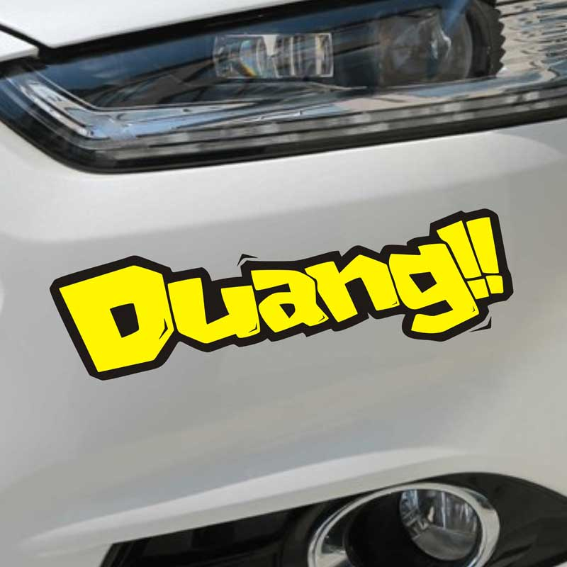 Di figure creative personality patch affixed to cover scratches reflective car stickers car stickers for car and motorcycle