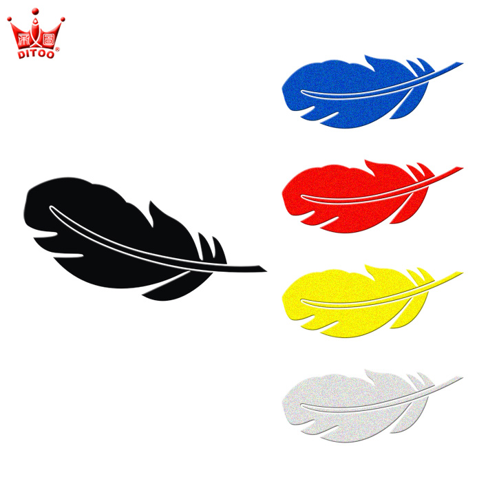 Di figure reflective feathers cartoon cover slickensides against scratches personalized decorative car stickers car stickers car garland