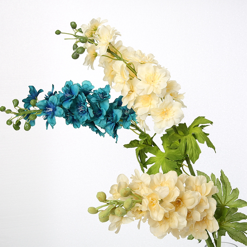 Di high simulation artificial flower decoration flower floral living room decorative flower raw silk flower simulation delphinium