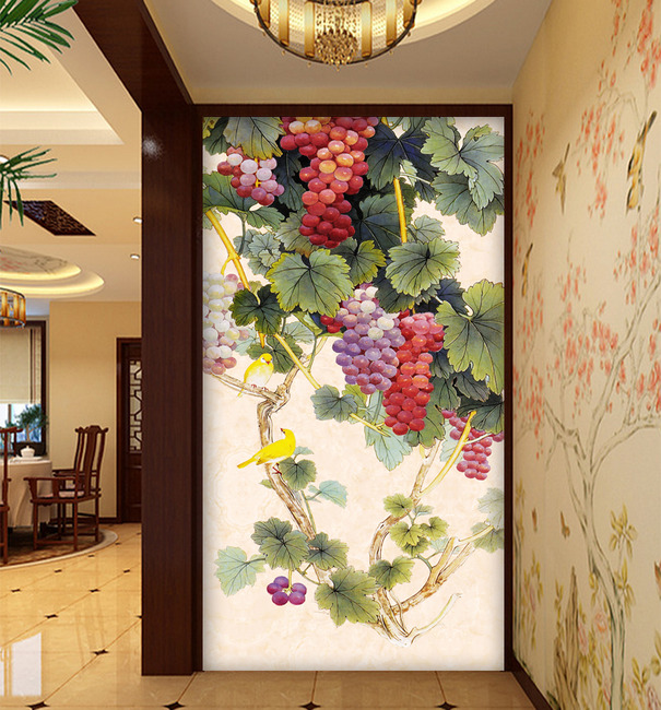 Diamond diamond stitch new painting grape fruits square diamond paste over a substantial new living room restaurant entrance