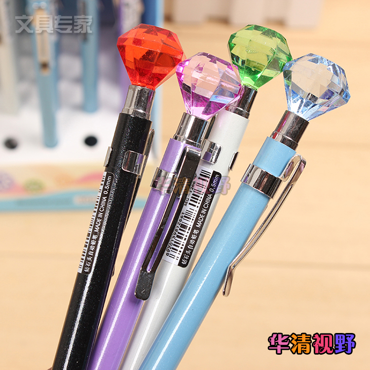 Diamond head color diamondmax automatic pencil pencil 0.5mm 1266 metal rod color automatic pen
