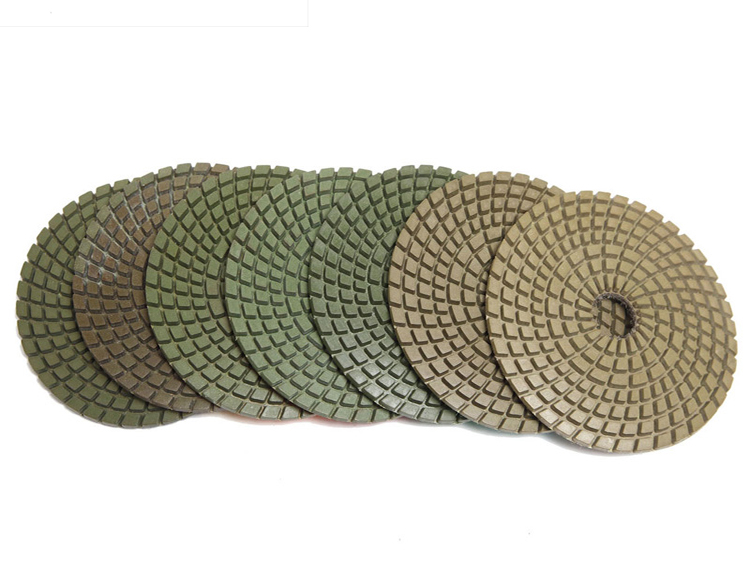 Diamond polishing pad mill piece 100mm 4 inch thick marble grinding stone polishing pad polished piece