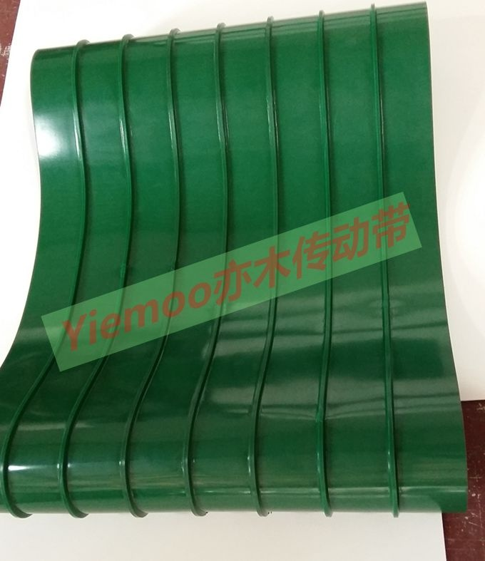 Direct factory price guide bar crosspiece conveyor belt conveyor belt pvc conveyor belt with anti rungravel bars green white